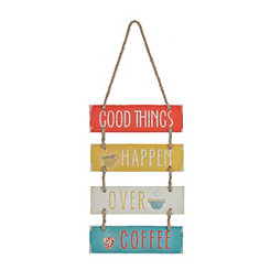 Good Things Happen Wood Plank Plaque