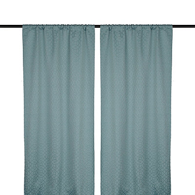 Aqua Rutland Curtain Panel Set, 96 in.