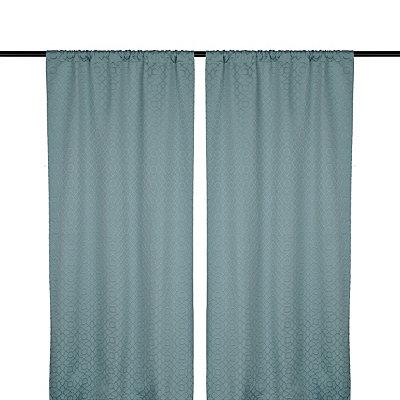 Aqua Rutland Curtain Panel Set, 96 in.
