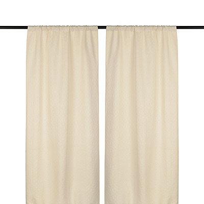 Taupe Rutland Curtain Panel Set, 96 in.