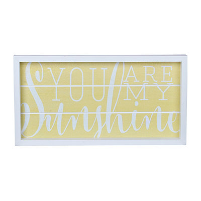 Yellow You are my Sunshine Wood Plank Plaque
