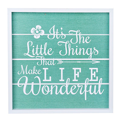 It's the Little Things Wood Plank Plaque