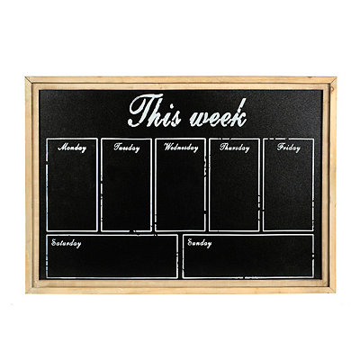 This Week Wooden Chalkboard Plaque