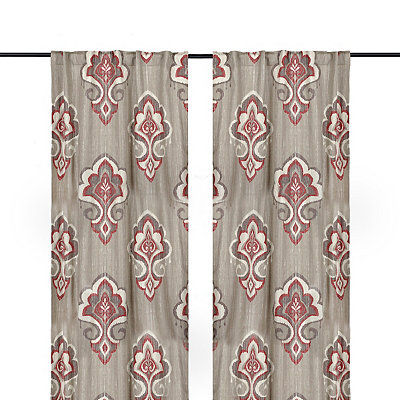 Red Mandana Curtain Panel Set, 96 in.