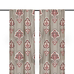 Red Mandana Curtain Panel Set, 108 in.