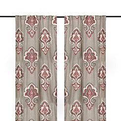 Red Mandana Curtain Panel Set, 108 in.