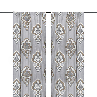 Taupe Mandana Curtain Panel Set, 96 in.