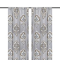 Taupe Mandana Curtain Panel Set, 108 in.