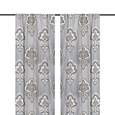 Taupe Mandana Curtain Panel Set, 108 in.