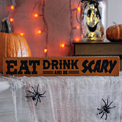 Eat Drink and Be Scary Word Block