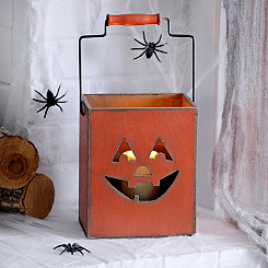 Jack O' Lantern Bucket Candle Holder