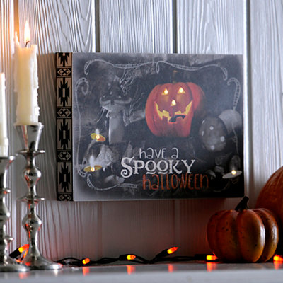 Spooky Halloween Spooky Block LED Wall Plaque