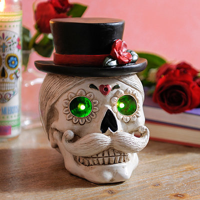 Day of the Dead Gentleman LED Sugar Skull