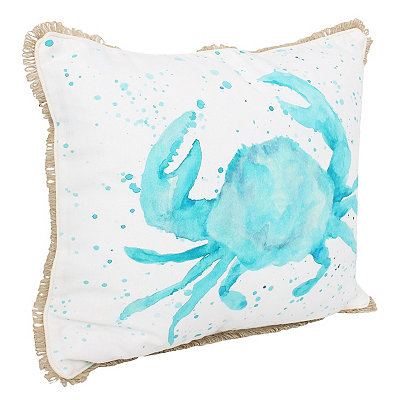 Carmello Crab Splatter Printed Pillow