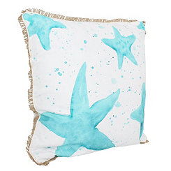 Samaria Starfish Splatter Printed Pillow