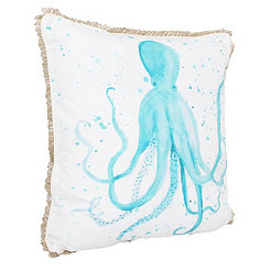 Ozwald Octopus Splatter Printed Pillow
