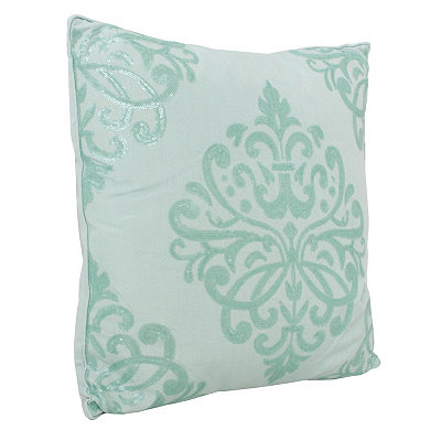 Harbor Blue Quinn Sequin Trellis Pillow