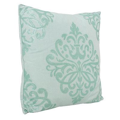 Harbor Blue Quinn Sequin Trellis Pillow