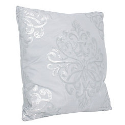 White Quinn Sequin Trellis Pillow