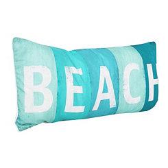 Beach Sign Printed Pillow