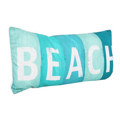 Beach Sign Printed Pillow
