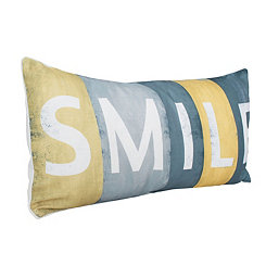 Smile Sign Printed Pillow