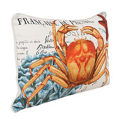 French Coastal Crab Pillow