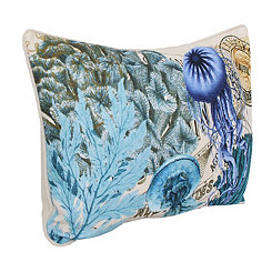 French Coastal Jelly Fish Pillow