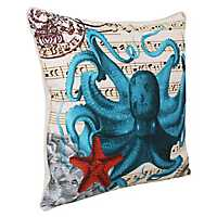 French Coastal Octopus Pillow