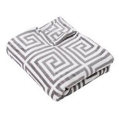 Kelly Greek Key Fleece Throw Blanket