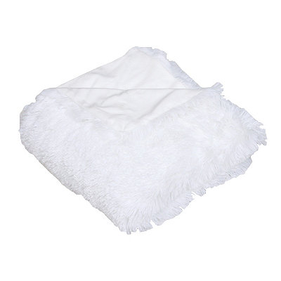 White Chubby Faux Fur Throw Blanket