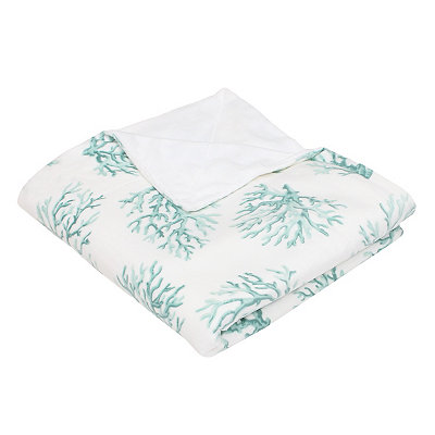 Blue Coral Microplush Throw Blanket