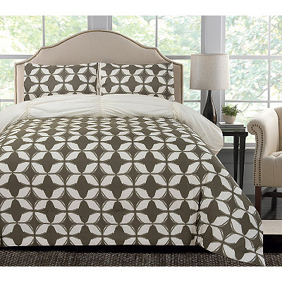 Charcoal Taylor Reversible XL-Twin Comforter Set