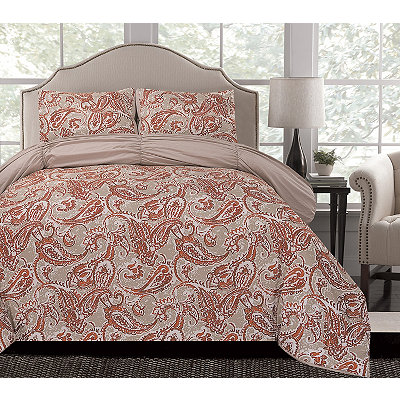 Umber Arizona Reversible Queen Comforter Set