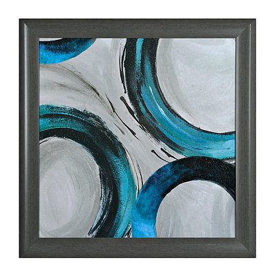 Teal Rings I Framed Art Print