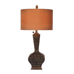 Bronze Ornate Scroll Table Lamp