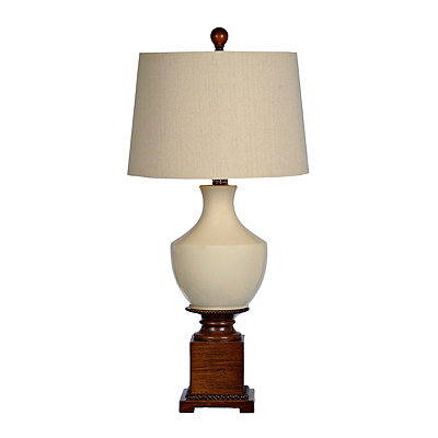 Cream Ceramic Mix Table Lamp