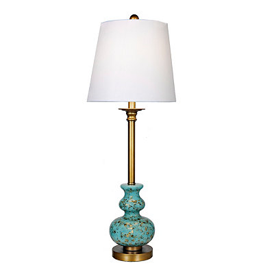 Hess Turquoise Mercury Glass Buffet Lamp