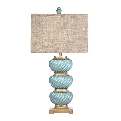 Cambridge Blue Swirl Table Lamp