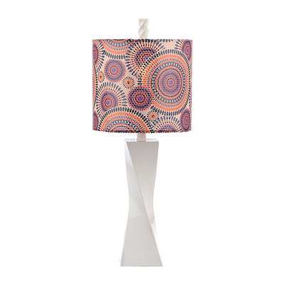 Bright Spice Sequin Twist Table Lamp
