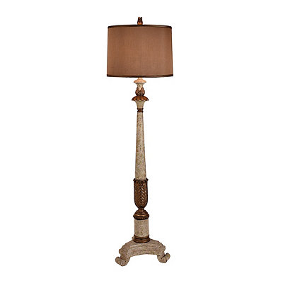 Cream and Gold Laney Shipley Floor Lamp