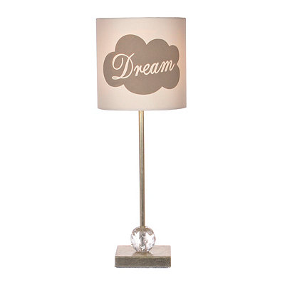 Gray and Silver Dream Buffet Lamp