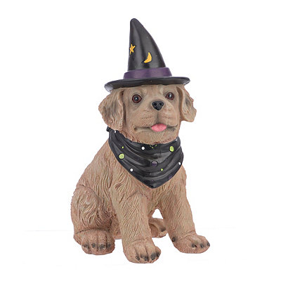 Whimsical Wizard Golden Retriever Statue