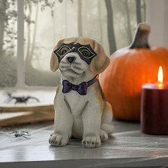 Halloween Masked Beagle Statue