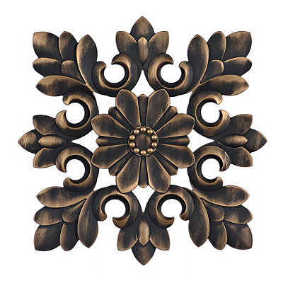 Bronze Carved Vine Medallion Wall Plaque