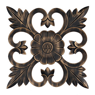 Bronze Carved Medallion Wall Plaque