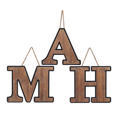 Wooden Monogram Plaques