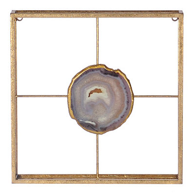 Purple Agate Square Plaque
