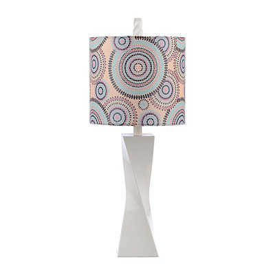 Cool Blue Sequin Twist Table Lamp