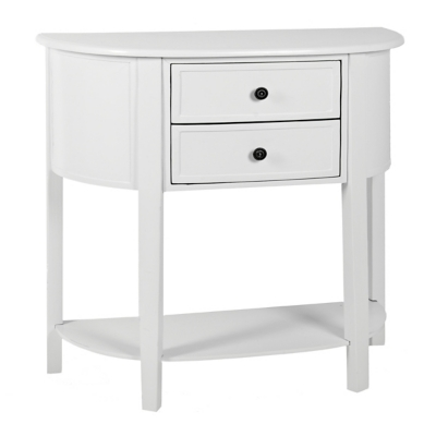 Arianna Cream Half Moon Console Table